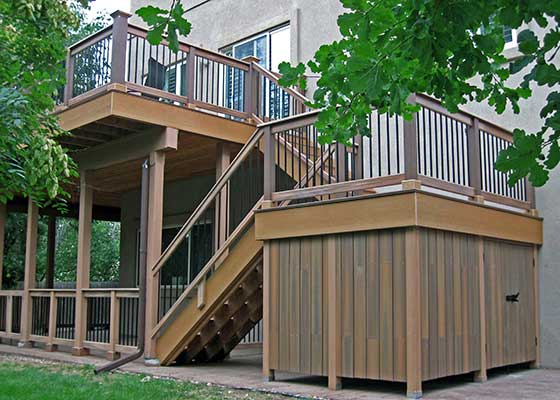 Boulder custom wood deck installer