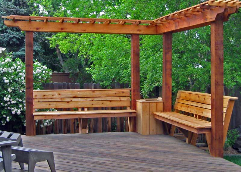 wood stained deck Boulder